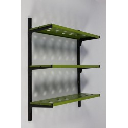 Metal wall rack green
