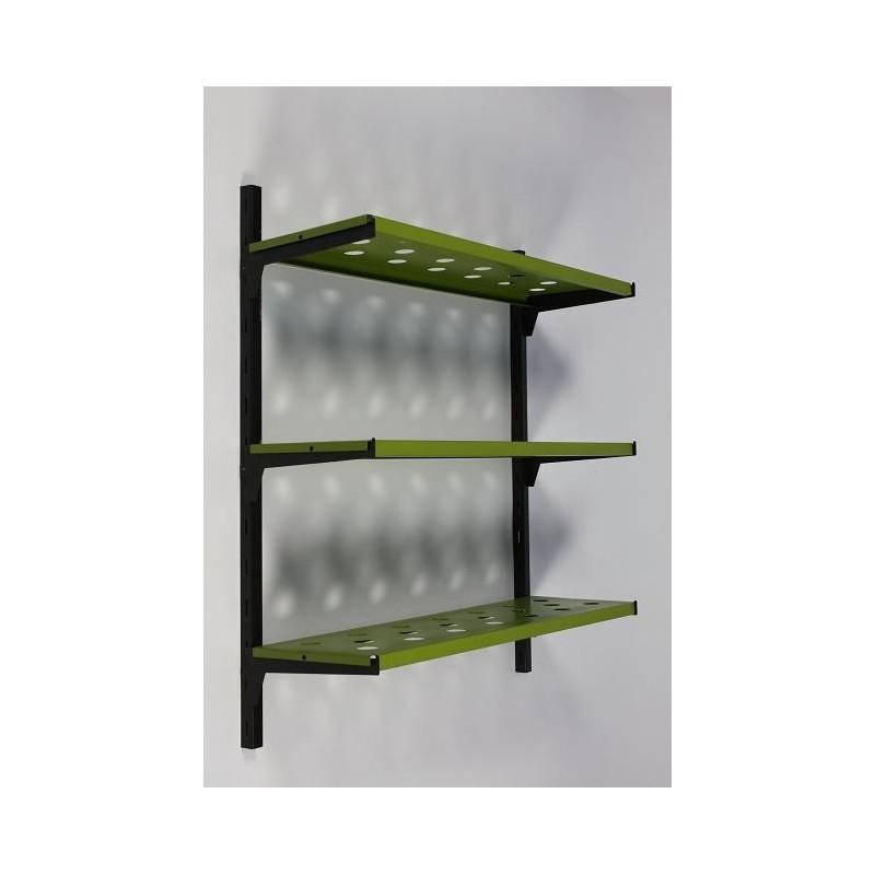Metal wall rack green
