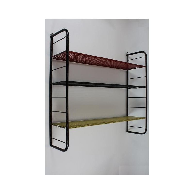 Metal wall rack with square perforation