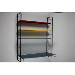 Metal wall rack with a desk