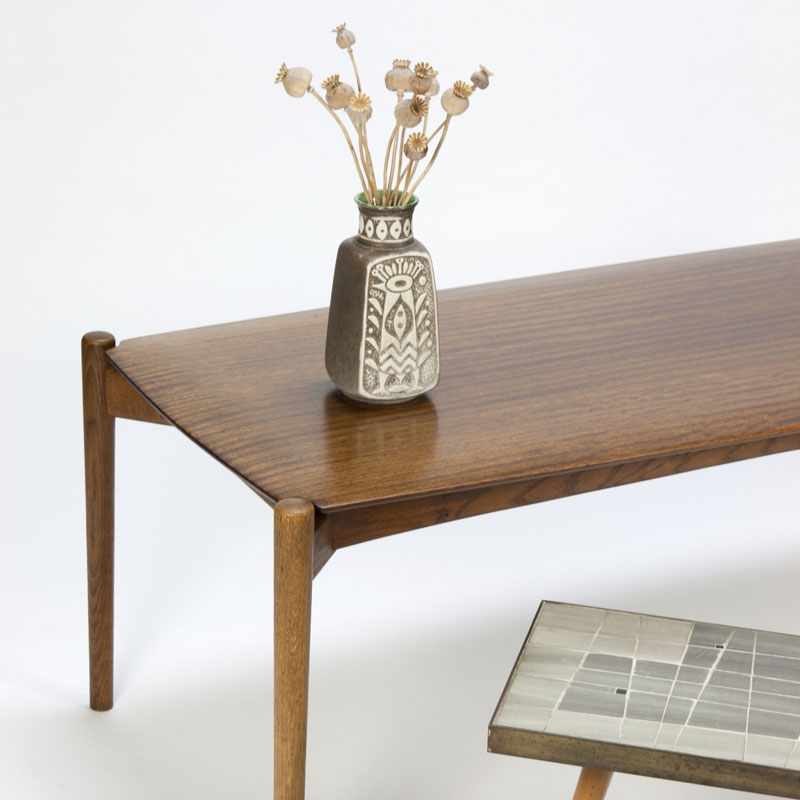 Vintage coffee table with organic shapes