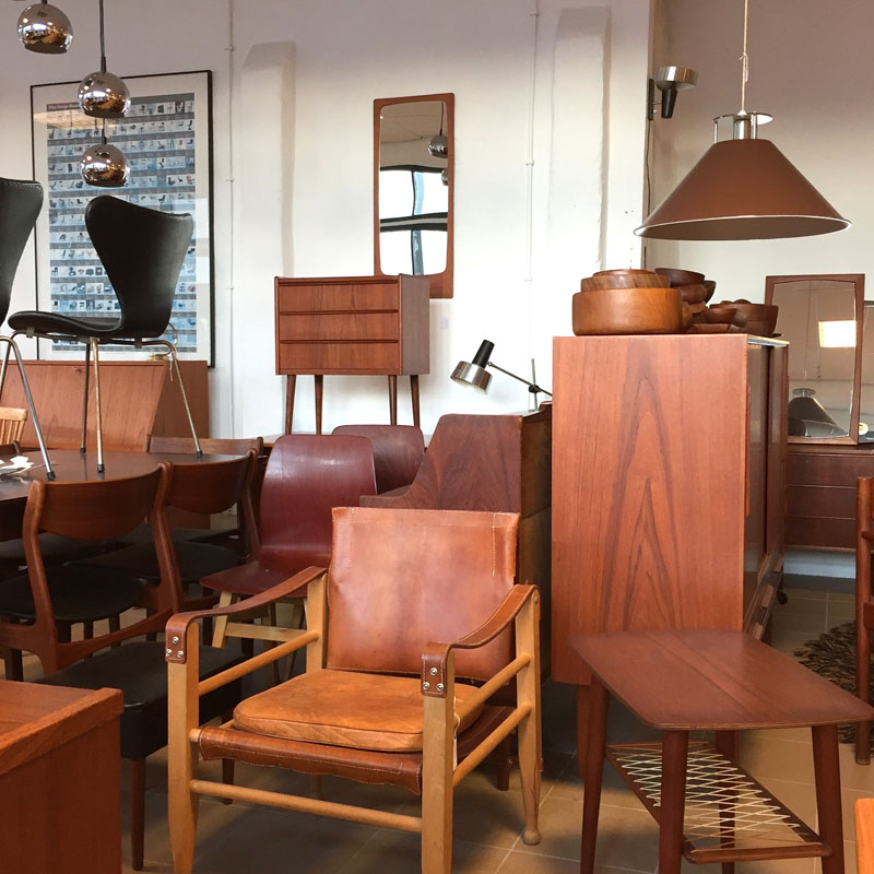 Vintage furniture from teak Danish design from the 60s