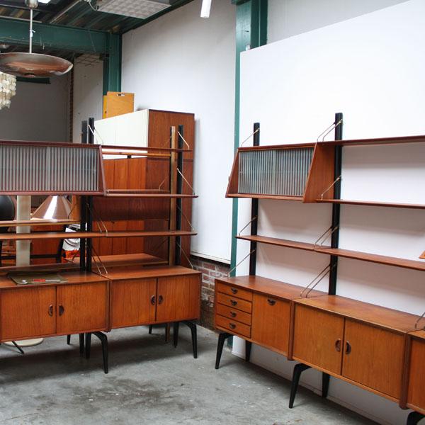 Vintage wall system Webe Louis van Teeffelen at Retro Studio Purmerend